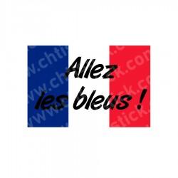 Autocollant supporter équipe France