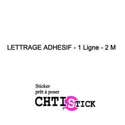 STICKER TEXTE DROIT 1 ligne 2m
