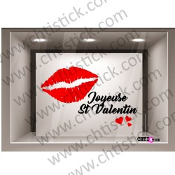 STICKER VITRINE SAINT VALENTIN