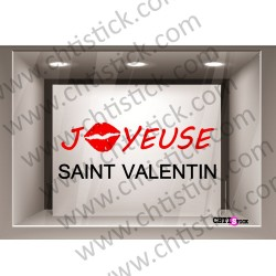 STICKER VITRINE SAINT VALENTIN 2