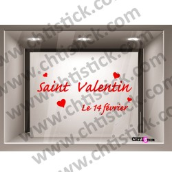 STICKER VITRINE SAINT VALENTIN 5