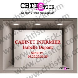 LETTRAGE ADHESIF CABINET INFIRMIER 01