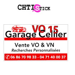 GARAGE CELLIER- PLAQUE AIMANTEE