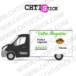MARQUAGE CAMION AMBULANT FRUITS LEGUMES