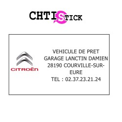 GARAGE LANCTIN- PLAQUE AIMANTEE x 2