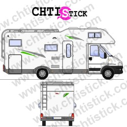 STICKER DECORATION CAMPING CAR