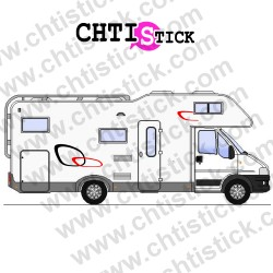STICKER DECORATION CAMPING CAR 14