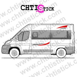 STICKER DECORATION FOURGON CAMPING CAR 05