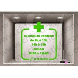 STICKER HORAIRES PHARMACIE
