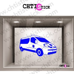 STICKER VITRINE AMBULANCIER