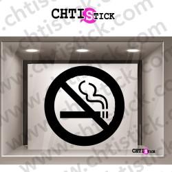 STICKERS INTERDIT DE FUMER 1 COUL