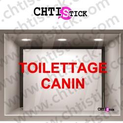 LETTRAGE ADHESIF TOILETTAGE CANIN 2