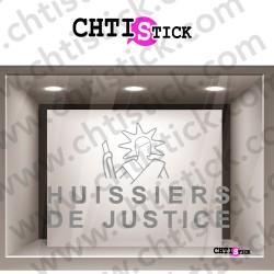 STICKER HUISSIER JUSTICE DEPOLI
