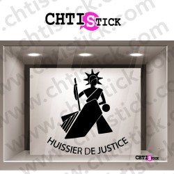 STICKER LOGO HUISSIER JUSTICE 3