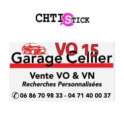 GARAGE CELLIER- LETTRAGE LOGO COUL x 2