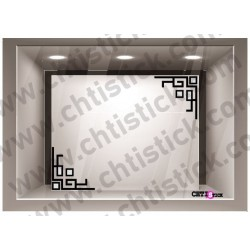 STICKER VITRINE COIN n° 2 x 2