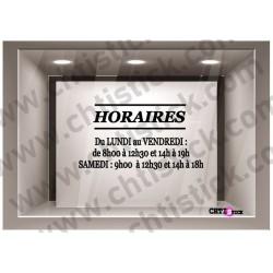 STICKER HORAIRES D'OUVERTURE