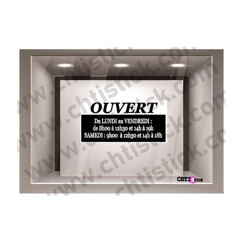 Sticker horaires 04 chtistick marquage adh sif publicitaire et d coratif - Horaires d ouverture castorama ...