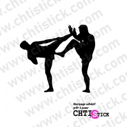 STICKER BOXE PIEDS POINGS 2