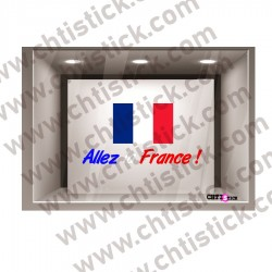 STICKER FOOT ALLEZ LA FRANCE