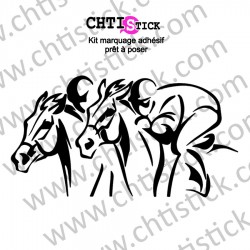 STICKER CHEVAUX COURSE 2