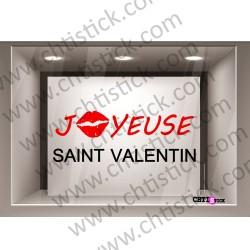 STICKER VITRINE SAINT VALENTIN 2