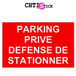 AUTOCOLLANT PARKING PRIVE