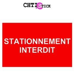 AUTOCOLLANT STATIONNEMENT INTERDIT