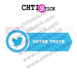 AUTOCOLLANT TWITTER PERSONNALISE