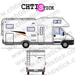 STICKER DECORATION CAMPING CAR 2