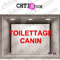 LETTRAGE ADHESIF TOILETTAGE CANIN 2