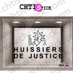 STICKER LOGO HUISSIER JUSTICE 2