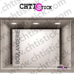 STICKER TEXTE VERTICAL BOULANGERIE