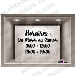 STICKERS HORAIRE 19