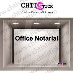 LETTRAGE ADHESIF OFFICE NOTARIAL