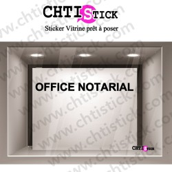 LETTRAGE ADHESIF OFFICE NOTARIAL 2