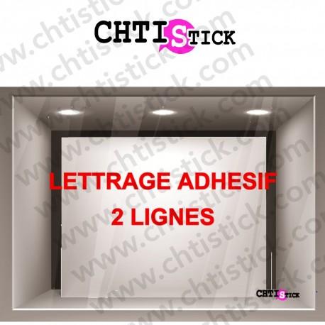 LETTRAGE ADHESIF DROIT 2 lignes