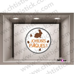 STICKER PAQUES ELECTROSTATIQUE  M