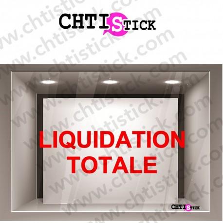 STICKER LIQUIDATION TOTALE