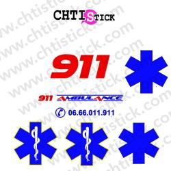 MARQUAGE AMBULANCE CLIENT 911