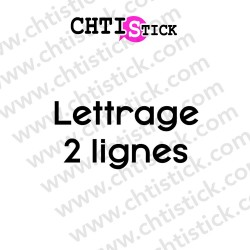 LETTRAGE ADHESIF DROIT 2 L