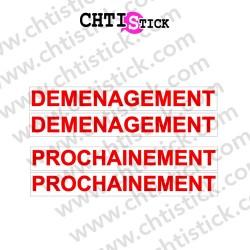 AUTOCOLLANT DEMENAGEMENT PROCHAINEMENT