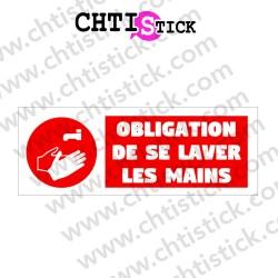 AUTOCOLLANT OBLIGATION LAVER MAINS2