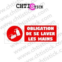 AUTOCOLLANT OBLIGATION LAVER MAINS GEL F