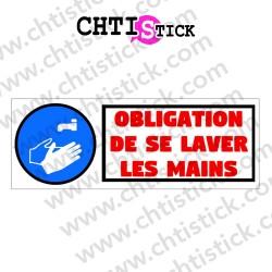 AUTOCOLLANT OBLIGATION LAVER MAINS R