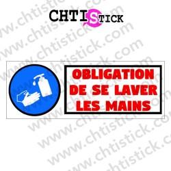 AUTOCOLLANT OBLIGATION LAVER MAINS GR