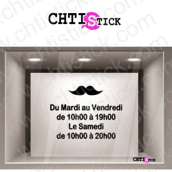 STICKER HORAIRES BARBIER