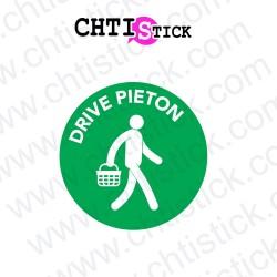 AUTOCOLLANT DRIVE PIETON 2