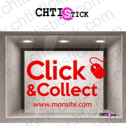 AUTOCOLLANT CLICK & COLLECT SS FOND
