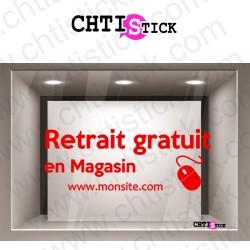 AUTOCOLLANT RETRAIT MAGASIN 2SS FOND